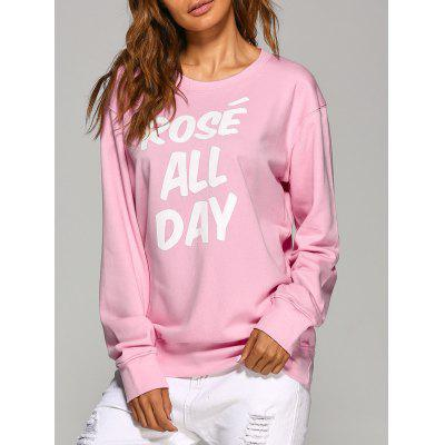 Rose All Day Letter Sweatshirt