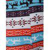 Christmas Striped Reindeer Leggings - LAKE BLUE