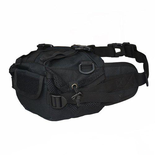 Tactical Phone Pouch Waist Pack Passport Wallet Double Layer Outdoor Sports EA