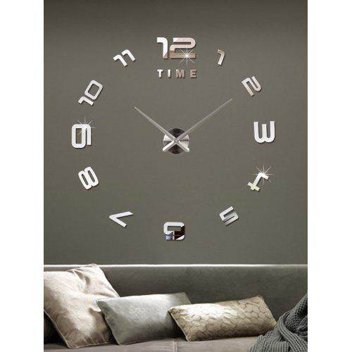 3d large diy acrylic mirror wall sticker clock - $20.25 free