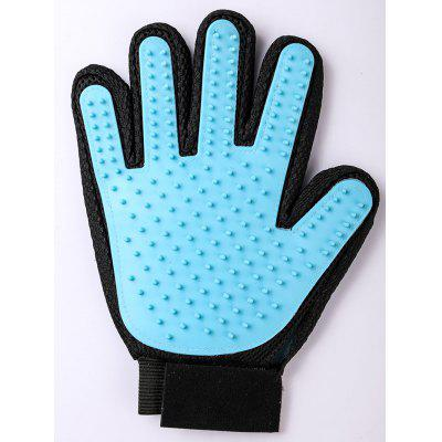 1 Pcs Environmental Silicone Double Sided Pet Massage Bath Brush Glove