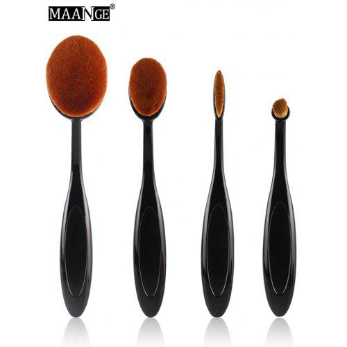 MAANGE 4 Pcs Oval Makeup Brushes Set
