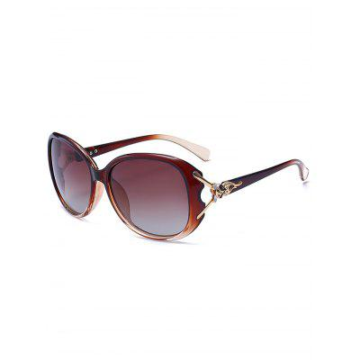 Metal Carving Inlay Ombre Sunglasses