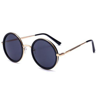 Polarized Retro Round Metal Frame Sunglasses