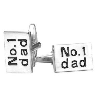 Alloy Engraved Dad Rectangle Cufflinks