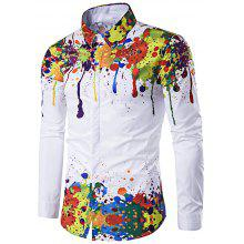 Tops & Tees 2018 Paint Splatter Custom T-shirts Artistic Snowboarder Print Man Clothing Long Sleeve Tee Shirt Apparel For Sale Orders Are Welcome.