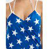 American Flag Pattern Patriotic Wrap Cover Up Dress - COLORMIX
