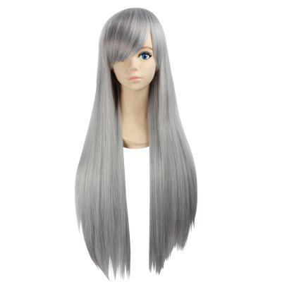 Ultra Long Side Bang Layered Straight Synthetic Naruto Cosplay Anime Wig