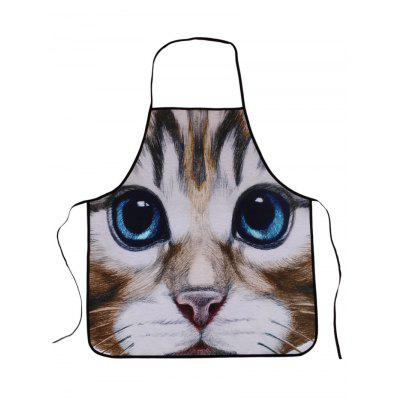 Cat Animal Polyester Waterproof Kitchen Apron