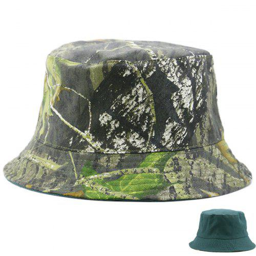 4afdd8bd1dabc Camouflage and Pure Color Reversible Bucket Hat