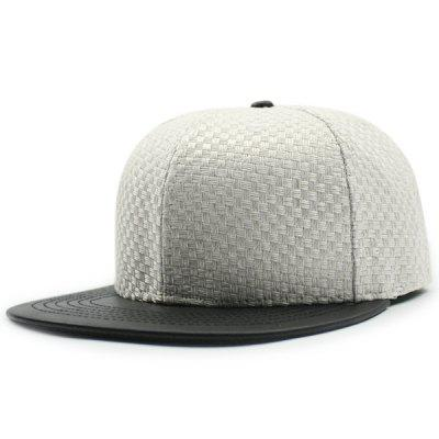 Tiny Plaid Flat Brim Spliced Baseball Hat