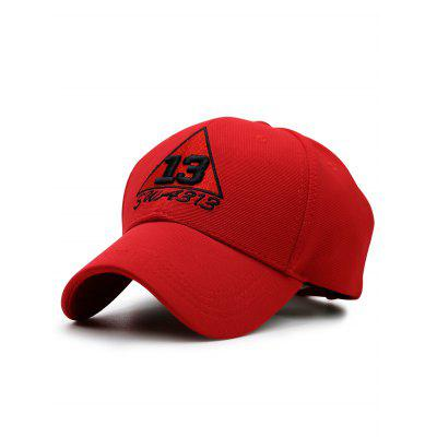 Trangle Numbers Embroidery Baseball Hat