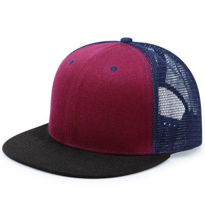 Flat Brim Mesh Spliced Baseball Hat