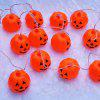 16 Pcs LED Halloween Pumpkin Hanging String Lights - ORANGE RED