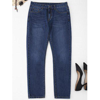 Five Pockets Plus Size Straight Jeans
