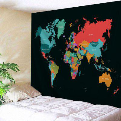 Wall Hanging Decor World Map Print Tapestry