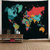 Wall Hanging Decor World Map Print Tapestry - COLORMIX