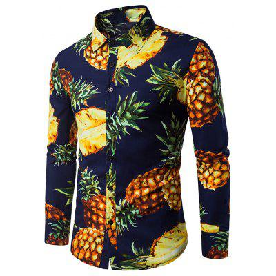 Купить Мужская Рубашка С 3D Принтом, Men Shirt, Casual Shirt, 3D Printed Shirt, Fruit Print Shirt, Hawaiian Shirt, Gearbest, хлопок