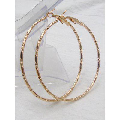 Big Bamboo Hoop Earrings