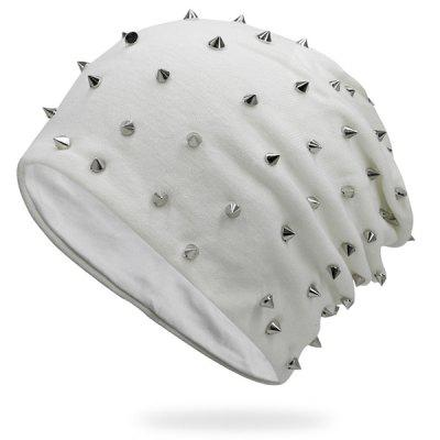 Tiny Rivet Embellished Knitted Beanie Hat