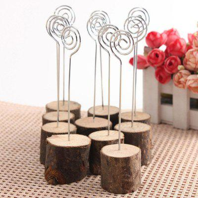 10 Pcs Wooden Table Card Number Holders For Wedding Decor