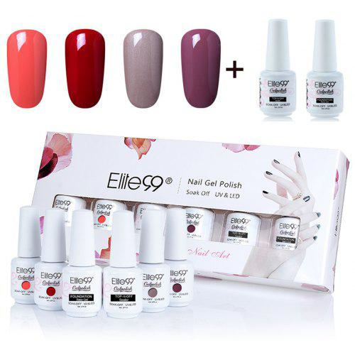 Elite99 6pcs Waterproof Polish Uv Led Soak Off Gel Nail Set