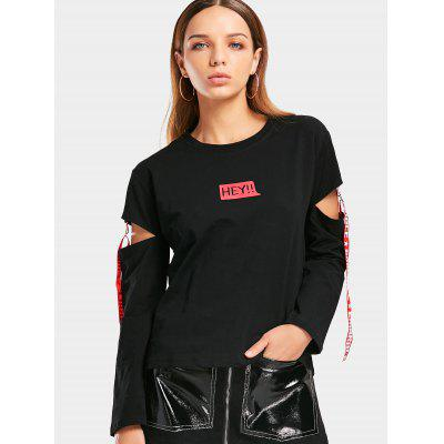 Letter Cutout Ribbons Loose Top