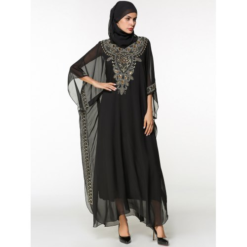 92d37dcd04 Chiffon Batwing Sleeve Long Arabic Dress -  40.47 Free Shipping ...