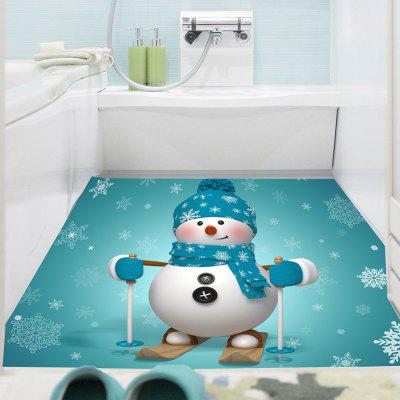 Skiing Snowman Patterned Multifunction Wall Art Sticker