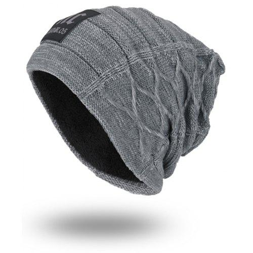 Thicken Double-Deck Knit Hat with Letters Label -  5.53 Free Shipping  450ac9e4c30a