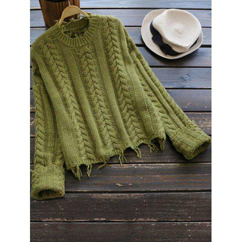 Cable Knit Crew Neck Pullover Sweater -  29.20 Free Shipping ... 2d231e82a