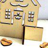 DIY Christmas Decorations Wooden Tree Snowman House - WOOD