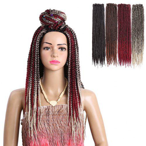 Long Three Strand Box Braids Synthetic Hair Weave Gearbest