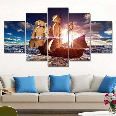 Sailboat Pattern Unframed Canvas Paintings