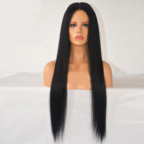 Middle Parting Long Straight Synthetic Wig 27 17 Free Shipping