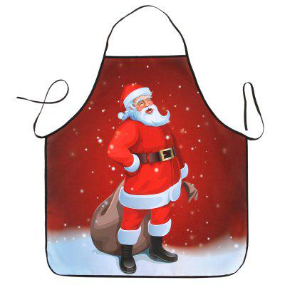 Santa Claus Print Waterproof Christmas Cooking Apron
