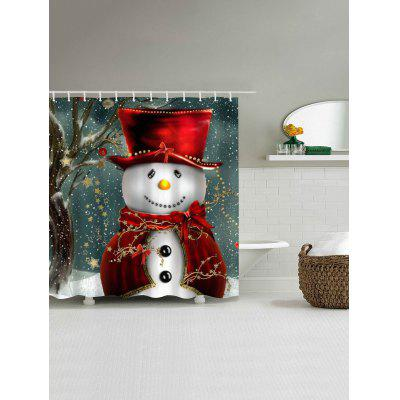 Christmas Snowman Mouldproof Waterproof Bathroom Shower Curtain wall mount single handle bath shower faucet with handshower antique brass bathroom shower mixer tap