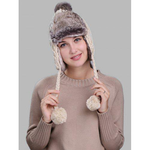 5af7b5a6ed6 Pom Pom Embellished Cable Knit Trapper Hat -  8.87 Free Shipping ...