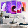 Abstract Space Print Split Unframed Canvas Paintings - COLORFUL