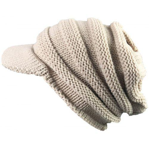6bb0257fc2e Vintage Striped Pattern Ribbed Knit Hat with Brim -  3.96 Free ...