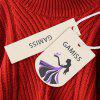 High Neck Lantern Sleeve Pullover Sweater - RED