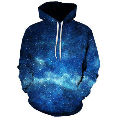 Hooded Trippy Galaxy 3D Print Pullover Hoodie