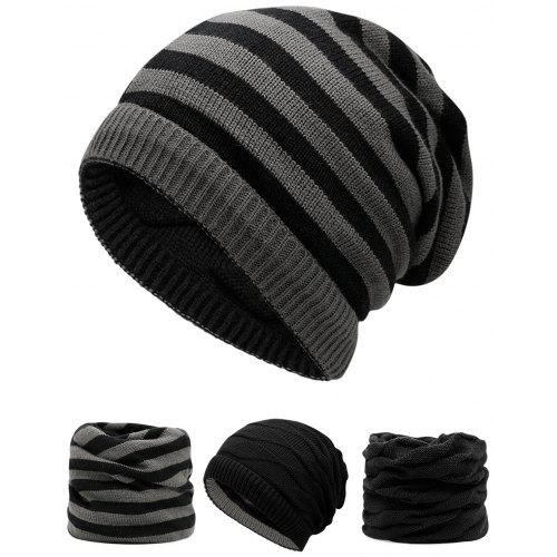 Outdoor Ponytail Hole Embellished Reversible Knit Beanie Hat -  5.14 Free  Shipping 78c344dc192