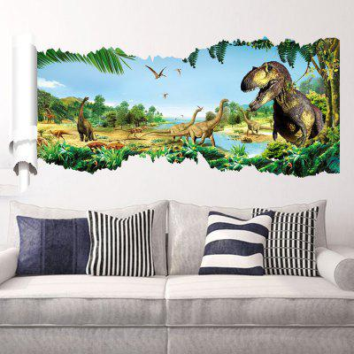 Forest Dinosaur Pattern Wall Stickers For Living Room
