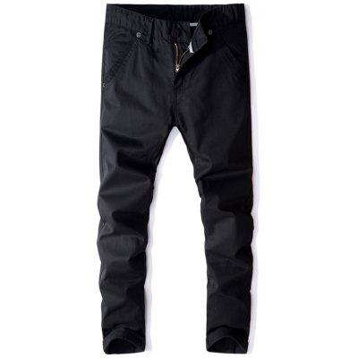 Mid Rise Straight Leg Casual Pants