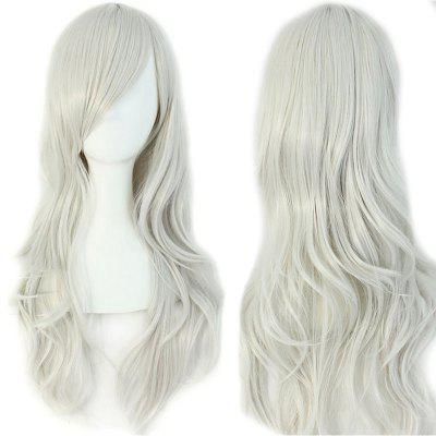Long Inclined Bang Wavy Cosplay Synthetic Wig