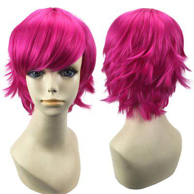 Short Inclined Bang Straight Synthetic Cosplay Wig