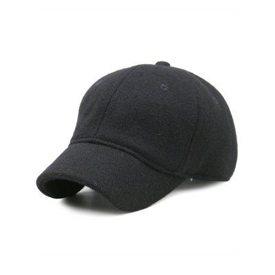 Outdoor Lines Embroidered Wool Baseball Hat