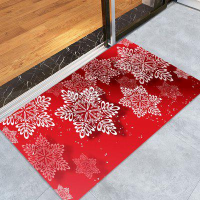 Christmas Snowflakes Pattern Water Absorption Area Rug