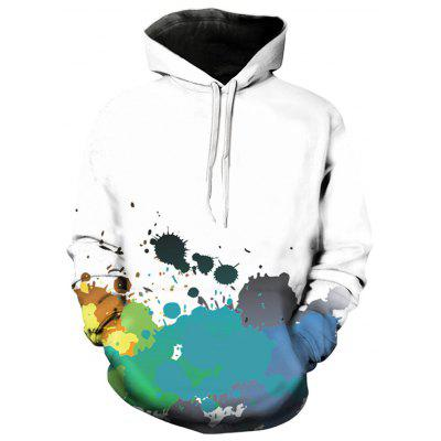 Hooded Hooded Pullover Pullover Colorful Paint Splatter